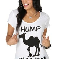 Short Sleeve Graphic Tee with Hump Day and Camel Screen