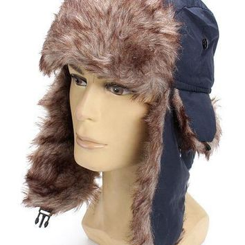 Winter Trapper Aviator Hat With Ear Flap