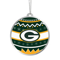 Green Bay Packers  Official NFL Metal Ornate Ball Ornament