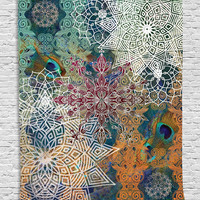 Bohemian Mandala Tapestry Wall Hanging Sandy Beach Picnic Throw Rug Blanket Camping Tent Sleeping Pad