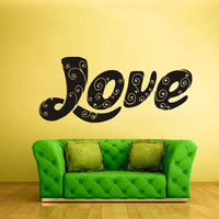 Wall Decal Mural Sticker Bedroom Decals Love Word Quotes Letter Character (z683)