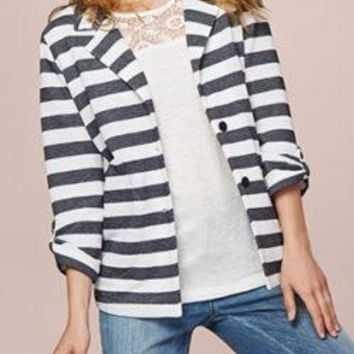 Women's Tribal Striped Knit Blazer