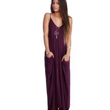 Burgundy Sorority Girl Maxi Dress