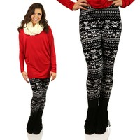 What A Softy Velour Patterned Leggings
