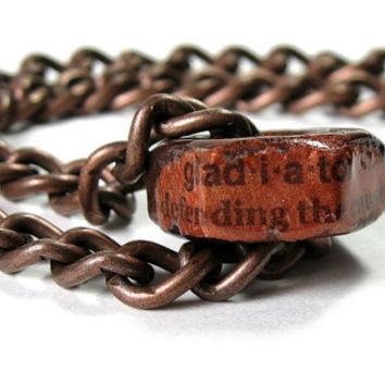 Copper Hex Nut Necklace, Gladiator, Gifts for Him, Gifts for Dad, Industrial Chic Jewelry, Mens Accessories, Father's Day