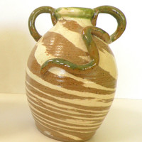 Marbleware Vase with Coil Detail