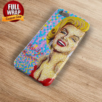 Marilyn Monroe Candy Art Full Wrap Phone Case For iPhone, iPod, Samsung, Sony, HTC, Nexus, LG, and Blackberry