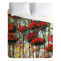 Madart Inc. Whispering Trees Duvet Cover