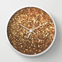 Summer Bronze Wall Clock by Lisa Argyropoulos