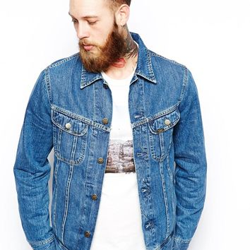 Lee Denim Jacket Regular Fit Rider Stonewash