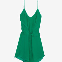 Chelsea Flower EXCLUSIVE Layered Silk Tank Slip Dress-Dresses-Clothing-Categories- IntermixOnline.com