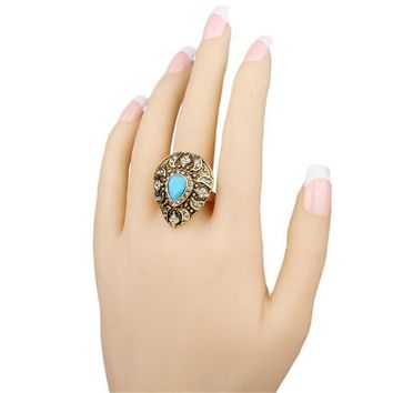 womens girls party unique old gold ring bohemian style womens fashion casual vintage jewelry best gift rings 22 2