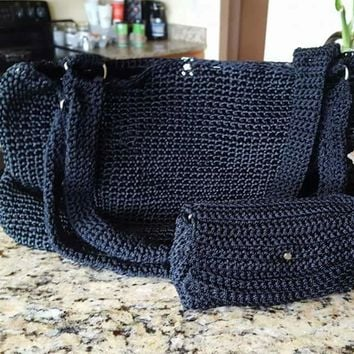 AG'S Crochet Handbag with matching wallet