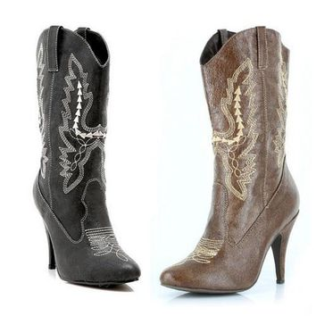 "4"" Heel Ankle Cowgirl Boot."