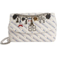 Balenciaga Medium BB Round Logo Charm Crossbody Bag | Nordstrom