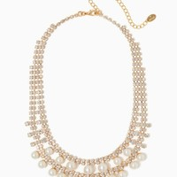 Pearl & Stone Glitter Necklace | Fashion Jewelry - RSVP Special Occasion | charming charlie
