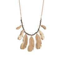 Veronica M Feather Necklace Set