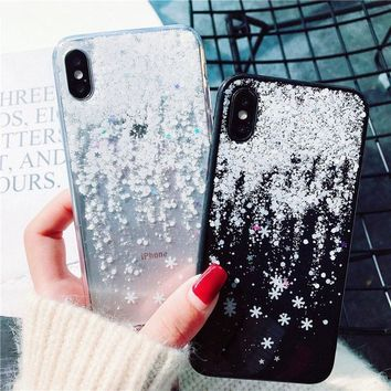 Snow Flower Soft Silicone Phone Case