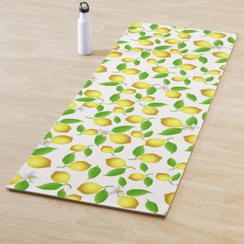 Lemon pattern yoga mat