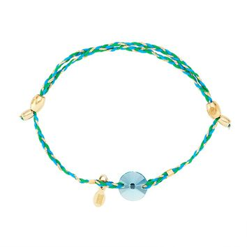Light Turquoise Crystal Precious Threads Bracelet