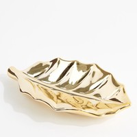 Metallic Gold Leaf Ring Tray | Jewelry Trays | rue21