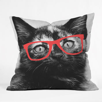 Allyson Johnson Sassy Kitten Throw Pillow