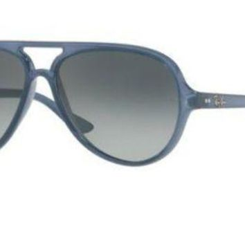 Kalete RAY-BAN CATS 5000 SUNGLASSES 59 MM | TRANSPARENT BLUE / GRADIENT | RB4125 630371