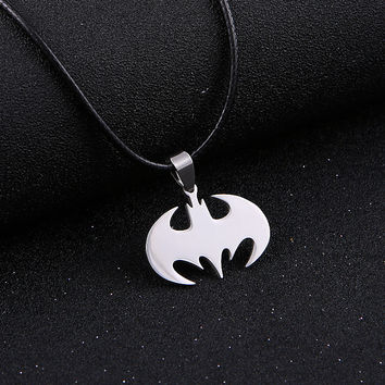 Batman Stainless Steel Silver Chain Mens Necklace