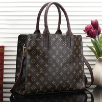 LV Louis Vuitton Fashion New Monogram Check Leather Shoulder Bag Handbag Women