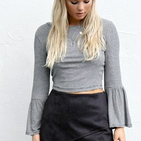 Sweet Talk Black Suede Skort