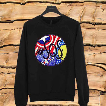 America 5SOS sweater Sweatshirt Crewneck Men or Women Unisex Size
