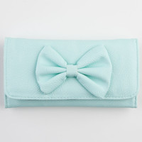 Faux Leather Bow Wallet 228666523 | Wallets
