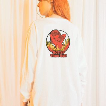 Hotter Than Hell Long Sleeve Top