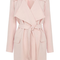 Dresses | Pink DRAPED TRENCH | Warehouse