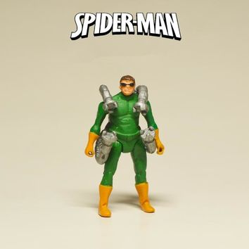 Disney Marvel Avengers Spider Man Doctor Octopus 4cm Action Figure Posture Anime Decoration Collection Figurine Toys model gift