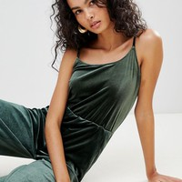 Only Mila Velvet Jumpsuit at asos.com