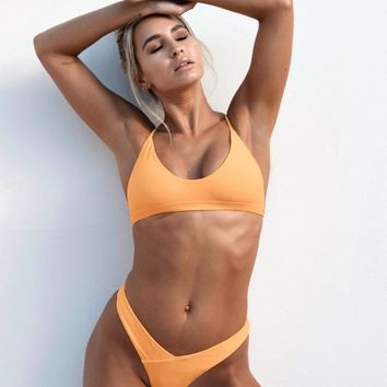 Amalfi Bikini Bottom (Exclusive) - Orange