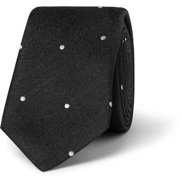 Saint Laurent - Spotted Silk Tie | MR PORTER