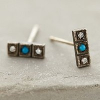 Trini Posts by Workhorse Turquoise One Size Earrings