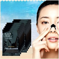 10Pcs Nose Blackhead Pore Deep Cleansing Peeling Acne Treatments Face SKIN Care Mask Peel off Mineral Mud PILATEN