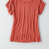 AEO Women's Don't Ask Why Ribbed T-shirt