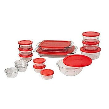 Pyrex Easy Grab 28-Piece Glass Bakeware and Food Storage Set