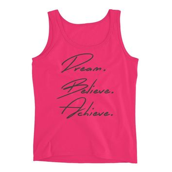 Dream Believe Achieve - Fitspiration - Motivational Workout Tank for Women