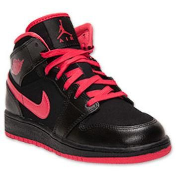 Girls' Grade School Air Jordan 1 Mid Basketball Shoes