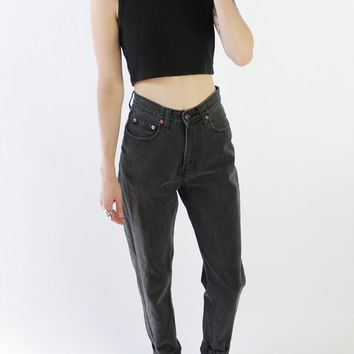 Vintage 80s Faded Black Jordache High Waist Jeans | 2
