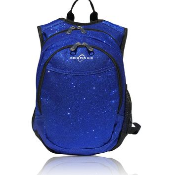 Obersee Pre-School Sparkle Backpack with Integrated Snack Cooler - Blue
