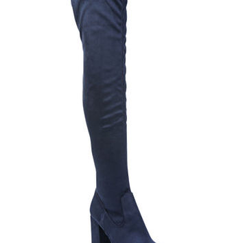 Carlos by Carlos Santana Rumor Over-The-Knee Block-Heel Boots | macys.com