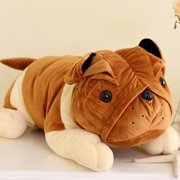 Large Shar Pei Dog Stuffed Animal Plush Toy 19""
