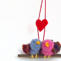 love birds,  Valentine birds,  valentine gift,  child's valentine,  valentine decoration, romantic valentine, playful valentine,