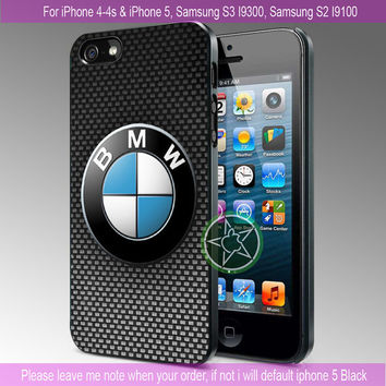 BMW Logo - iPhone 4 / iPhone 4S / iPhone 5 / Samsung S2 / Samsung S3 / Samsung S4 Case Cover